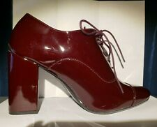 Calvin Klein Womens Red Round Toe Booties Oxford 8.5 Wide