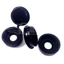 Confezione da 25 NERO, grandi Hinged, vite di plastica cover caps-gratis UK Consegna