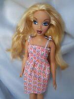 Mattel Barbie My Scene HYBRID Curvy Fashionista Body Vintage Summer Dress