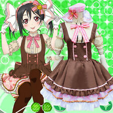 JP Anime Love Live Nico Yazawa Costume Candy Lolita Maid Uniform Princess Dress