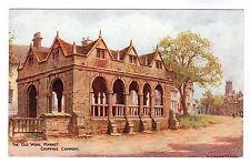 Old Wool Market - Chipping Campden Art Postcard c1940s