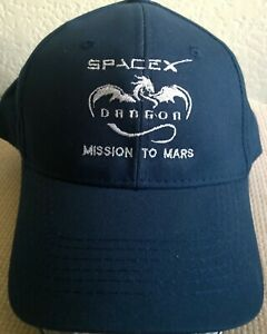 SPACE X BASEBALL HAT CREW DRAGON MISSION TO MARS