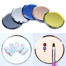 Mirror Glass False Nail Tips Display Board Color Palette Practice Manicure Tool