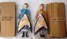 """Mr Spock & Captain KIRK action figure doll STAR TREK 10.5"""" - P7508 & P7507 - NEW"""