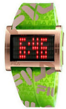 Fila FA0773-05 Camuflage Men's Digital Red LED Green/Gold Logo Resin Watch