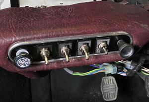 Classic Mini Carbon Fibre Toggle Switch Panel