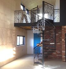 Wrought iron ornate balustrade 1200 diameter spiral staircase