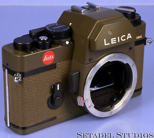 LEICA LEITZ R3 ELECTRONIC OLIVE GREEN SAFARI 10034 FILM SLR CAMERA BODY CLEAN