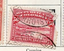 Colombia 1917 Early Issue Fine Used 50c. 097613