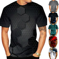 Men's Casual 3D Print T-Shirts Crew Neck Short Sleeve Tops Tees Classic Fit