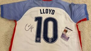 Carli Lloyd Signed Team GOLD USA Jersey Women's Soccer JSA COA