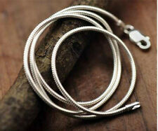 925 Silver Sterling 1mm Snake Chain Necklace Rope Pendant 16 18 20 22 24 Inch UK