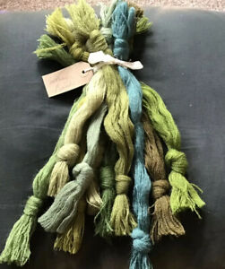 Vintage Appleton's Fine Tapestry Crewel Wool Colour Themed Packs MOSSY GREENS