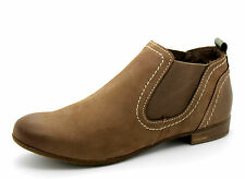 Marco Tozzi Women's Pepper Antic Leather Lined Pull On New Ankle Boots UK 5 to 8