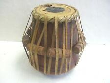 Vintage Tabla Drum 10½ Inch Indian Carved Wooden Drum made with Rawhide & Wood