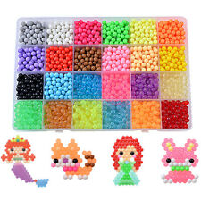 3200 Super Refill Aqua Water Fuse Beads 24 Candy Color Separate Crystal Packing