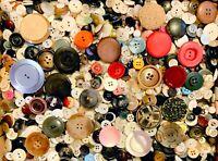 BUTTONS! HUGE Lot TWELVE POUNDS Vintage Sewing Buttons 12lb Estate Mix 12PD11