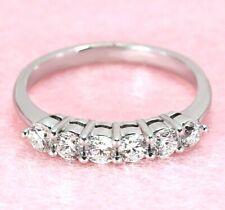 0.61 ctw. Diamond Wedding Ring - 18k White Gold   Shared Prong Set Diamond Band