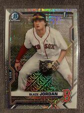 2021 Bowman Mega Box Chrome 1st Blaze Jordan Boston Red Sox Prospect MOJO Ref