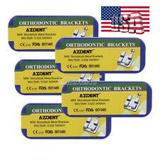 5 Kit Orthodontic MIM Metal Bracket Braces Monoblock Mini Roth 022 3-4-5 Hooks