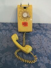 Vintage Bell System Western Electric Yellow Rotary Dial Wall Telephone 554