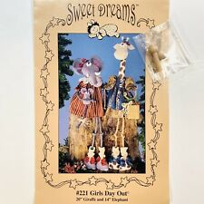 Elephant and Giraffe Doll Pattern Girls Day Out Dorothy Ashby for Sweet Dreams