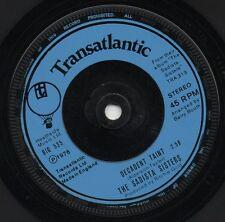 THE SADISTA SISTERS decadent taint*black/white 1976 UK TRANSATLANTIC 45