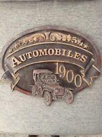 Vintage Style Automobiles Automobile 1900 Car Sign Plaque (A8)