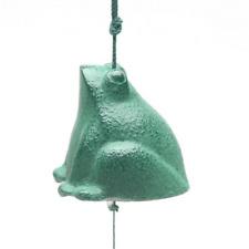 Japanese FURIN Wind Chime Green Frog Nanbu Cast Iron Iwachu/ Made in Japan