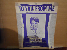 EYDIE GORME,  TO YOU FROM ME 1958