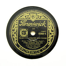 "FRED WARING PENNSYLVANIANS ""Mary's A Grand Old Name"" BRUNSWICK 03408 [78 RPM]"