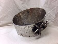 """Star Home Coquilles Seashell Beverage Drink Ice Tub Cooler Silver 13"""" x 9"""" 41250"""