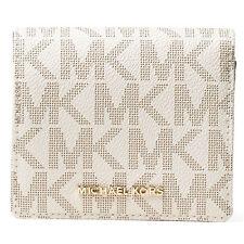 Michael Kors Women's Vanilla PVC Signature Logo Card Case