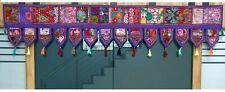 "70""Indian Cotton Window Valance Embroidered Patchwork Toran Mandala Door Hanging"
