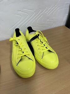 Converse All Star  UK 6  EU 39 Men's 5 X OPI Neon Yellow Black Low Top green