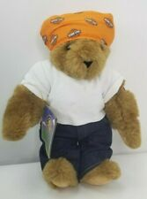 Vintage Vermont Teddy Bear Jointed Teddy Bear Harley Davidson Motorcycle