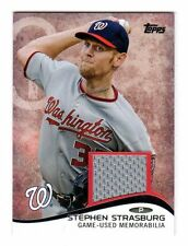STEPHEN STRASBURG 2014 TOPPS mini ONLINE EXCLUSIVE GAME USED JERSEY