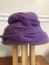 Vintage 1950s Ladies Stylish Purple Netted Hat