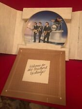 "New Other ""Live In Concert� 14966 D Collectable The Beatles Plate w/ Box Delphi"