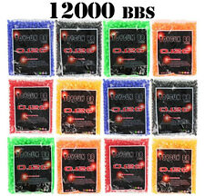 12000 AIRSOFT BB PELLETS 6mm BBs Pistol Gun Sniper Rifle .12g AMMO FAST SHIPPING