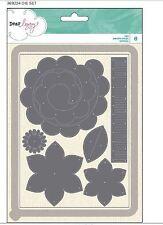 American Craft Cutting Die Set~ Dear Lizzy~ Serendipity FLOWERS & BANNER ~369224