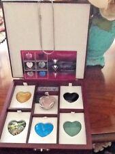 Colors of Life 6 Interchangeable Heart Gemstone Necklaces rose quartz, mother..