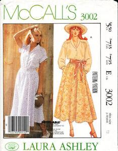 McCall's 3002 ©1987 Laura Ashley Designed Blouse & Skirt, 12, FF