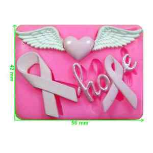 Cancer Research Awareness Ribbons Mould by Fairie Blessings