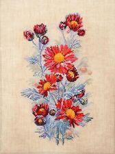 "Counted Cross Stitch Kit MARY WEAVER (MARYA ISKUSNITSA) - ""Red chrysanthemums"""