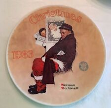 SANTA IN THE SUBWAY ROCKWELL Collector PLATE CHRISTMAS 1983 COA #A12503