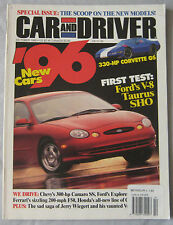 Car & Driver magazine 10/1995 featuirng Ferrari F50, Chevrolet Camaro Z28, Ford
