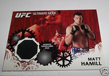2010 Topps UFC Ultimate Gear Matt Hamill Authentic Fighter Worn Patch UG-MHA