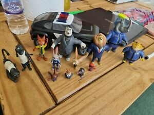 Fab lot Zootropolis Toys Figures play set kids toys with pice cruiser