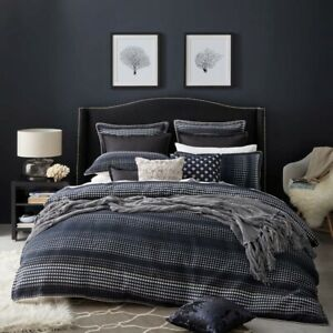 Private Collection Laurence Navy Duvet Doona Quilt Cover Set 3 Sizes